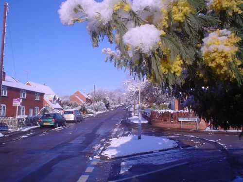 Snow in April, Redditch, Worcestershire