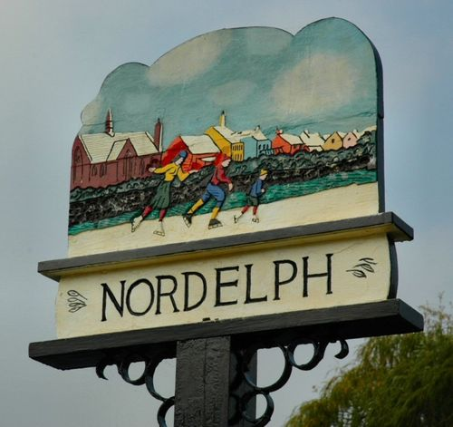 Nordelph Village Sign, Norfolk