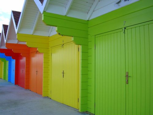 Beach Huts, Scarborough, North Yorkshire