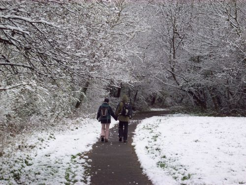 April snow, Sudbury, Greater London