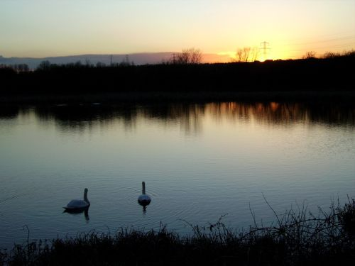 Sunset on Irthlingborough Lake