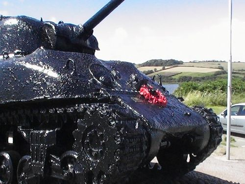 Tank Memorial At Slapton Sands Devon