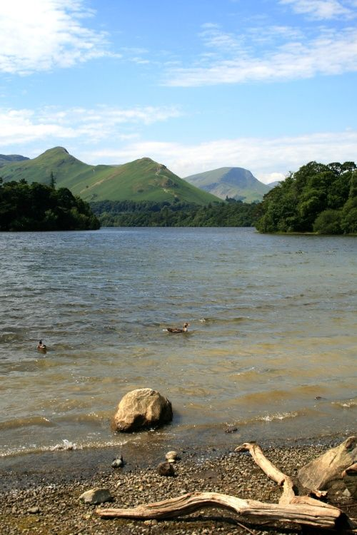 Derwentwater in the English Lakes. Cat Bells in the background.