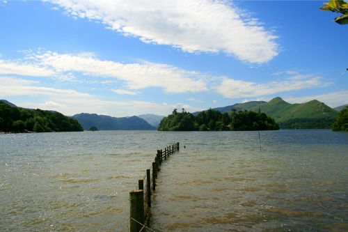 Derwentwater in the English Lakes.