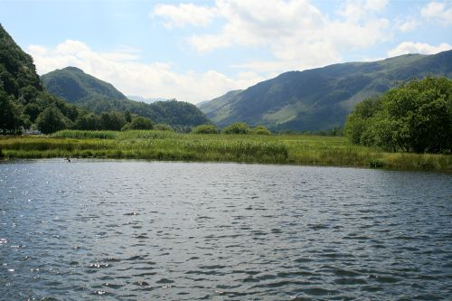 Derwentwater, a view looking south from a pleasure craft.