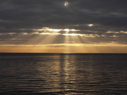 Sunrays from Clacton pier