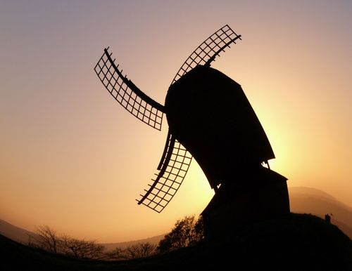 The windmill ... on a very windy day? .... Brill, Bucks