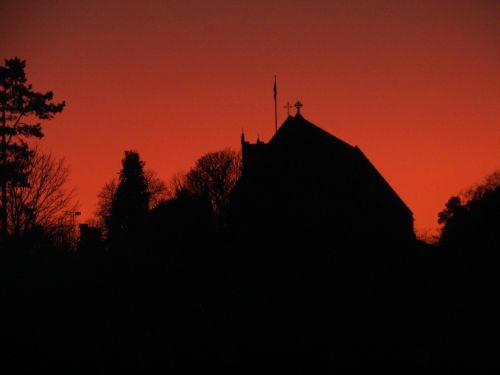 St Mary's Priory Church, Tutbury at Sunset