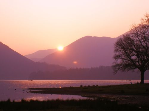 Derwentwater at sunset