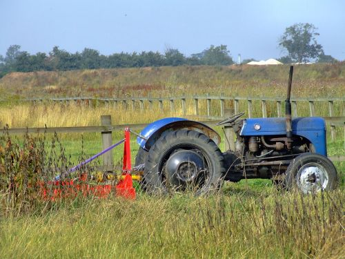 An old tractor at Newport