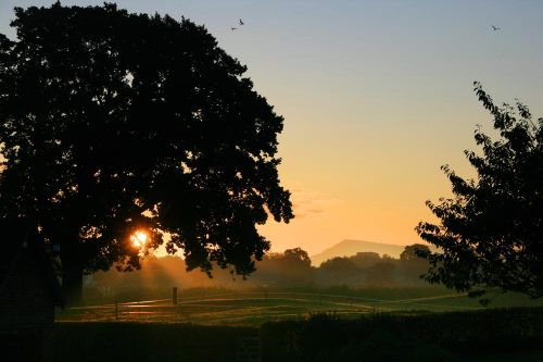 Sunrise from Sandhole Farm, near Congleton