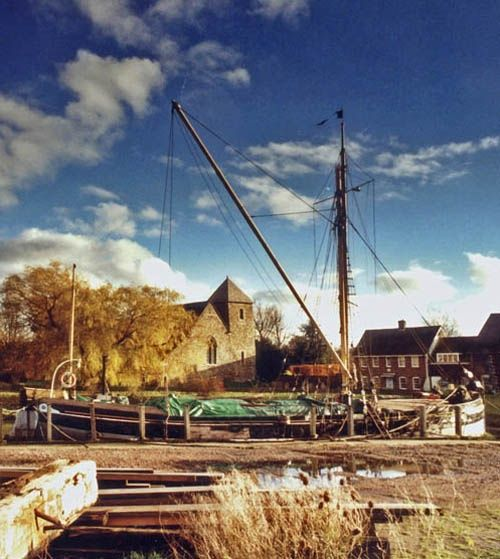 Sailing barge at Lower Halstow, kent