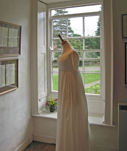 Period dress at Jane Austen's house, Chawton