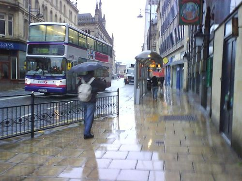 """A Wet Bradford City Centre"" By Mick Covell At"