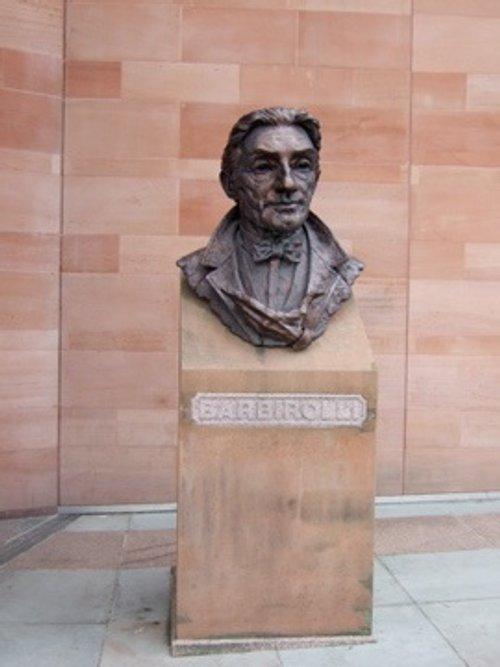 Sir John Barbirolli bust outside Bridgewater Hall
