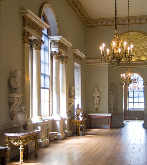 Stately Home Interiors.  Interior Holkham Hall Norfolk by John Ware at PicturesofEngland com