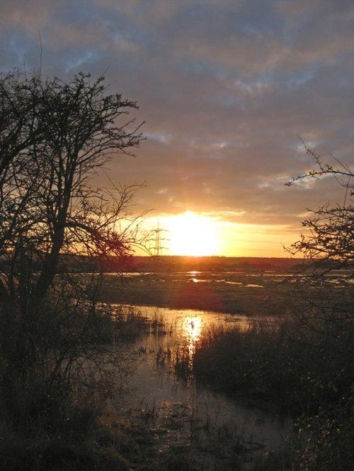 Sunset over Westcourt Marshes