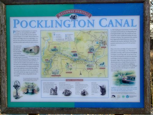 Pocklington Canal information board (2)
