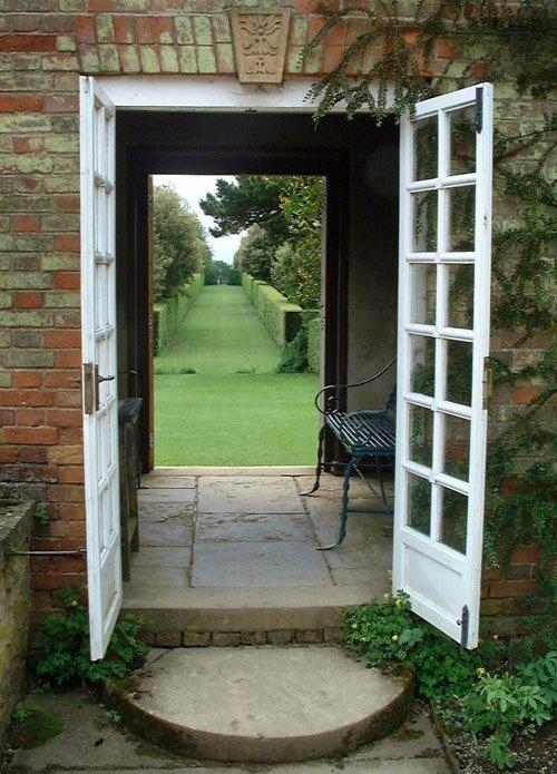 \ Garden pavillion doorways Hidcote Gloucestershire\  by John Ware at PicturesofEngland.com & Garden pavillion doorways Hidcote Gloucestershire\