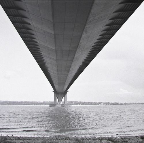 Humber bridge from below
