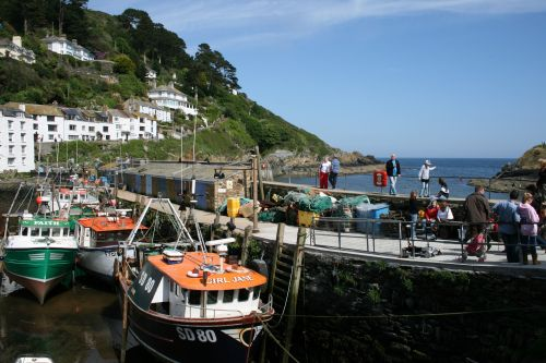 Polperro Harbour Wall