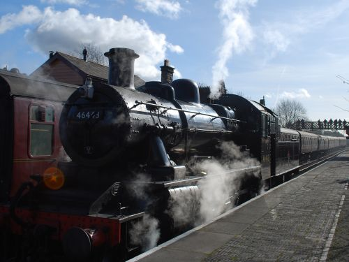 Train on the Severn Valley Railway at Bridgnorth