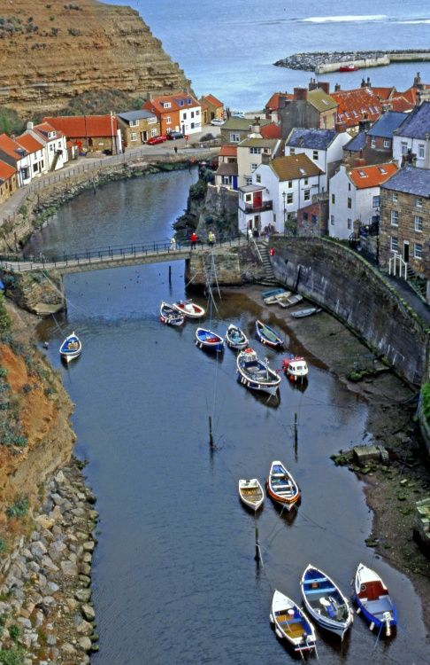 Staithes Harbour View.