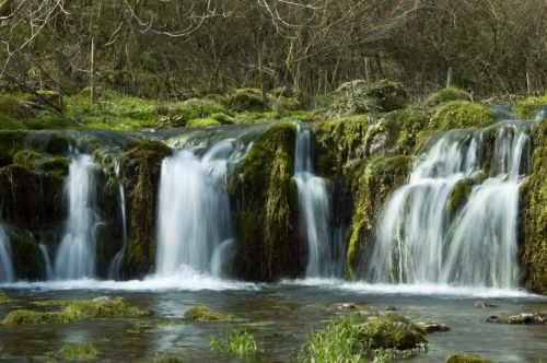 Waterfall on the Lathkill River, Lathkill Dale