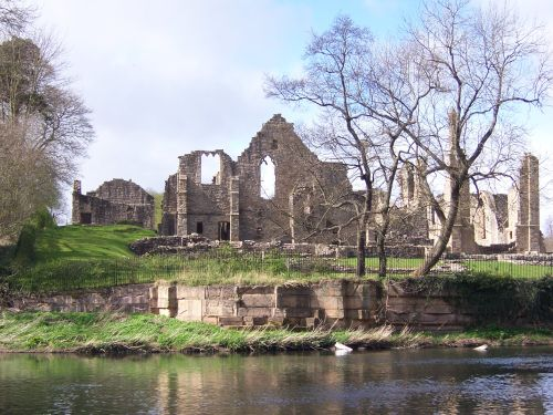 Finchale Priory on the banks of the River Wear, Co Durham