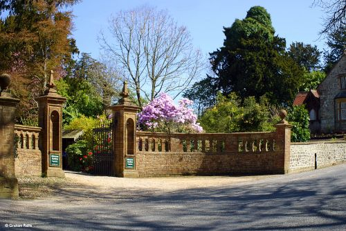 The entrance to Minterne Gardens and Manor House at Minterne Magna