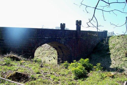 The lower bridge at Turton Tower