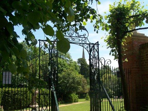 Gates at Bridge End Gardens