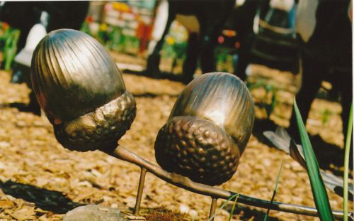 Acorn sculpture in Midsummer Place