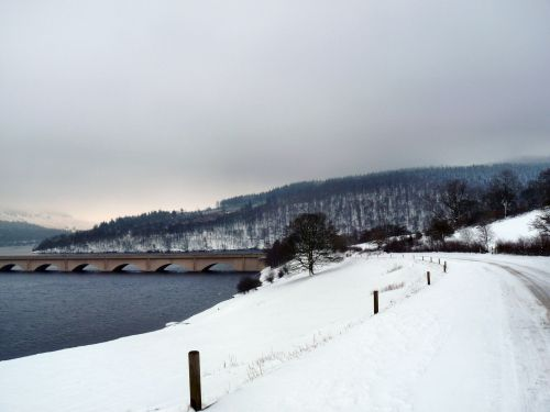 Ladybower Bridge in the snow