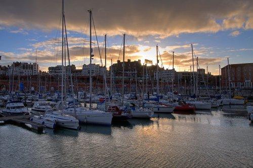 Sunset at Ramsgate Marina