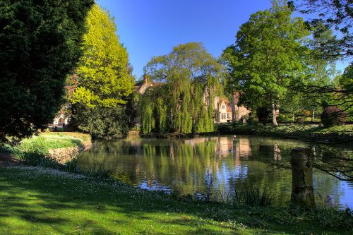 Aylesford priory pond by david wigham at for Garden pond kent