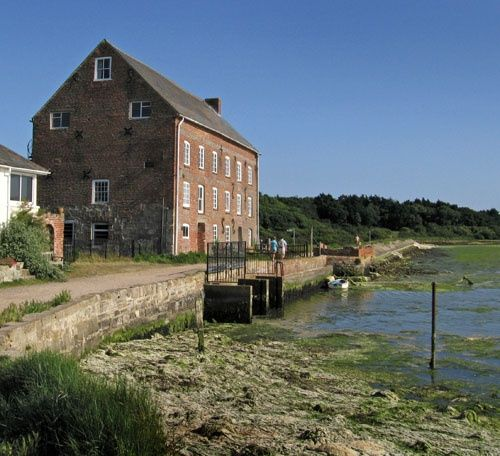 Mill on the Yar estuary