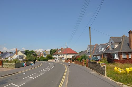 Dawlish Warren, Main Street heading towards shops and opposite direction local pubs