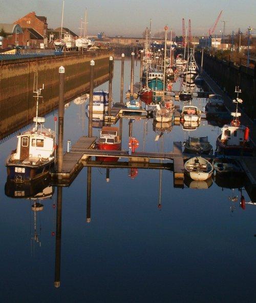 Reflections in River Nene Wisbech