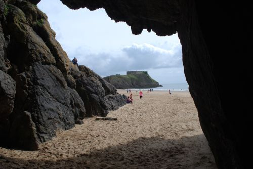View from the caves on the beach