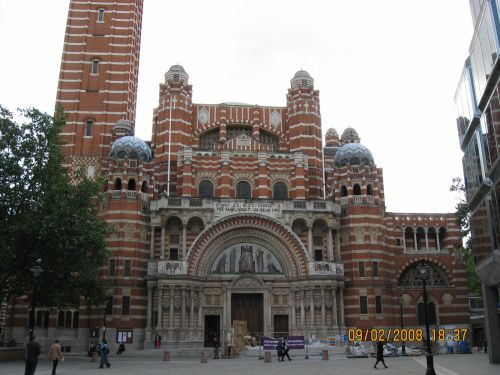 A partial view of Westminster Cathedral
