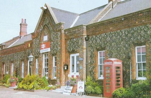 A Postcard of Wymondham Station,  too many cars to take a picture at the time of visiting