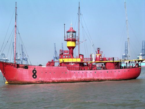 The old Radio Caroline Ship on the River Orwell
