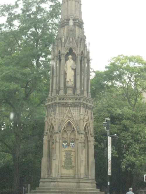 Martyrs Memorial In Oxford City centre