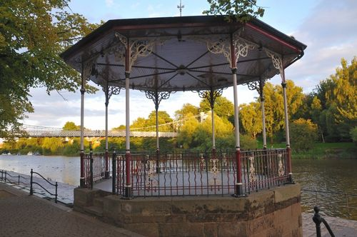 Bandstand on banks of River Dee and on The Groves St - Aug 09