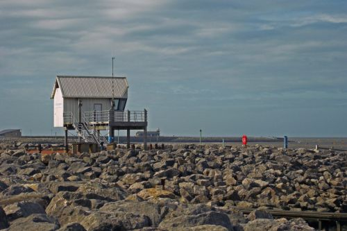 Morecambe yacht clubhouse.