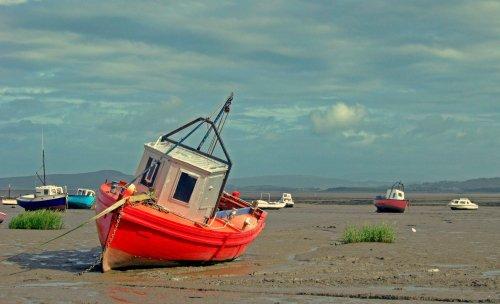 Morecambe fishing boats.
