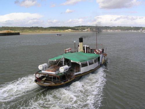 Paddle steamer Kingswear Castle at Chatham Naval Dockyard