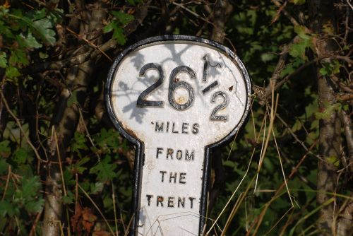 Sign by the Grantham Canal