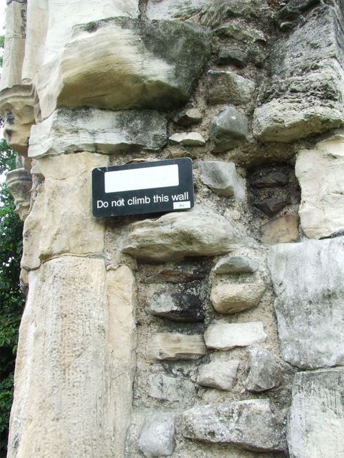 One of the walls of St Mary's Abbey